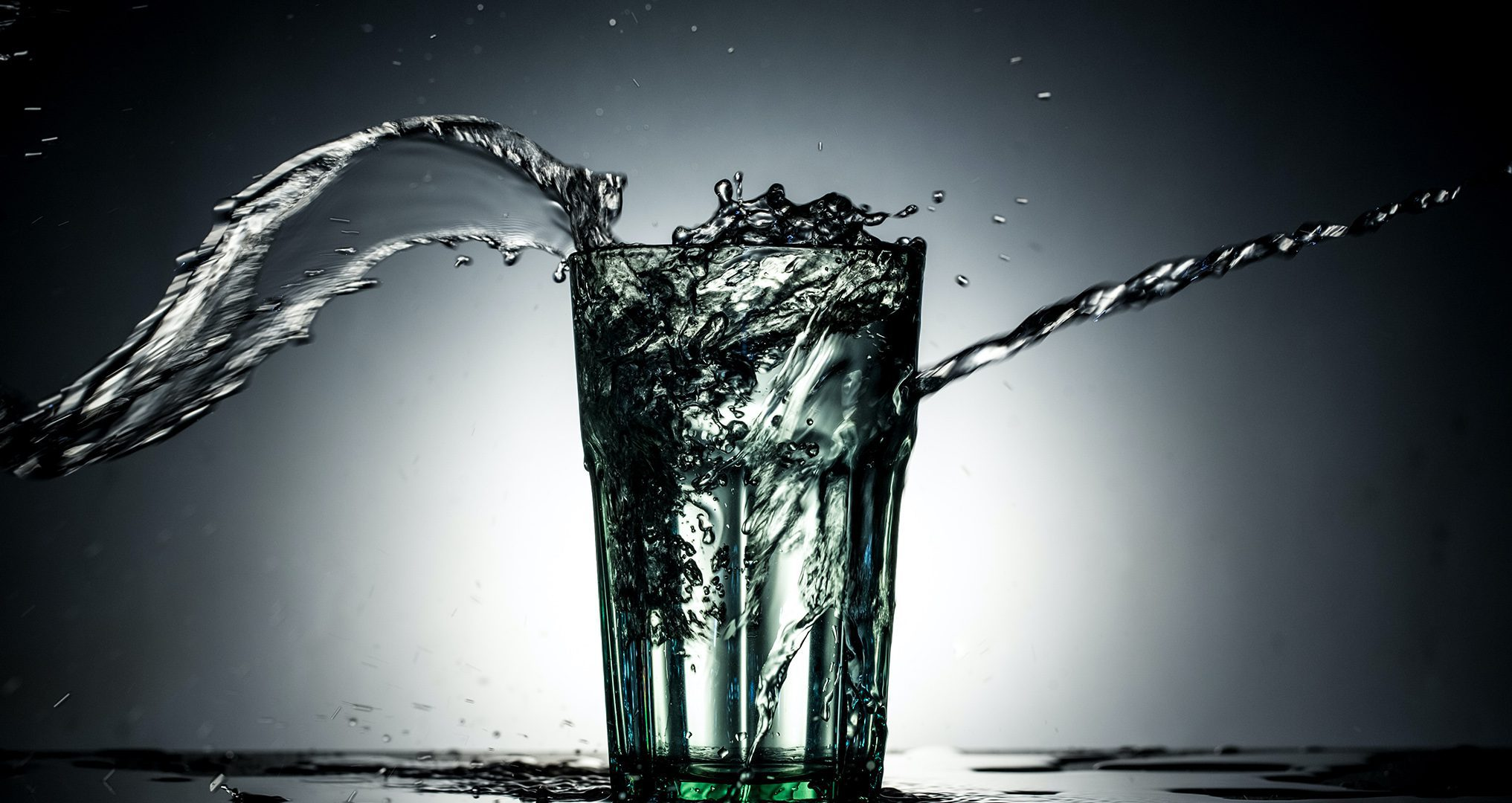 Glass of fresh tasting water from Hydr8 NYC